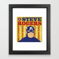 Steve Rogers/Captain Ame… Framed Art Print