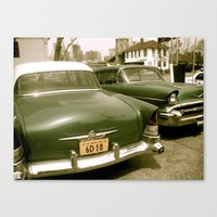 Vintage Cars In Brooklyn Canvas Print