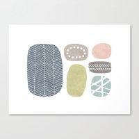 Painted Stones Canvas Print