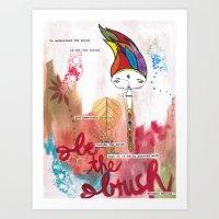 Be the Brush Bhoomie Art Print