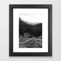 Lets Get Lost, The Valley of Ten Peaks Framed Art Print