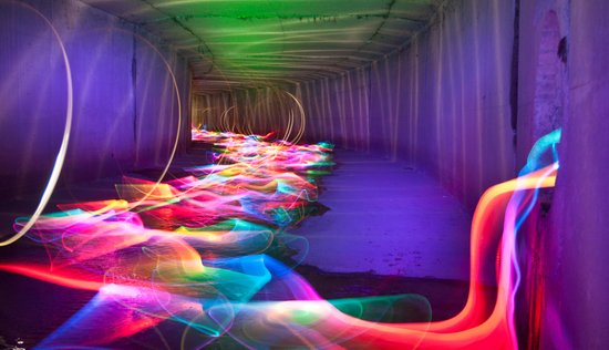 Liquid Color Flow Canvas Print