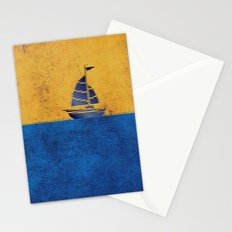 Ship puzzle Stationery Cards
