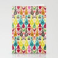 Ivory Love Ikat Stationery Cards