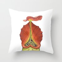 Nepenthes Carnivorous Plant Throw Pillow