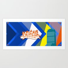 Beantown Graffiti Art Print
