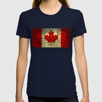 Oh Canada! Womens Fitted Tee Navy SMALL