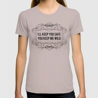 KEEP YOU WILD Womens Fitted Tee Cinder SMALL