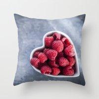 Raspberries For A Health… Throw Pillow