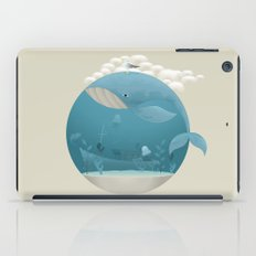 Seagull rest over whale iPad Case