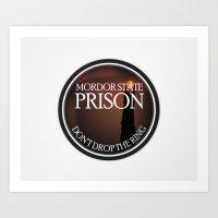 Mordor State Prison  Art Print