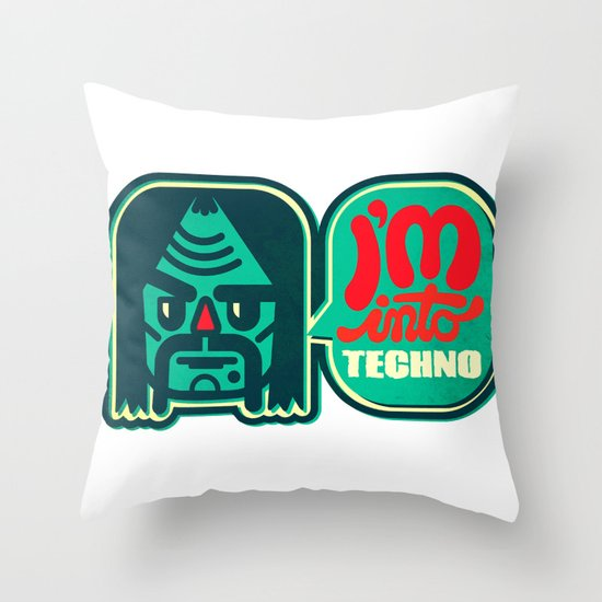 I'm Into Techno Throw Pillow