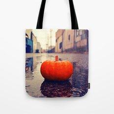 Rainy day pumpkin Tote Bag