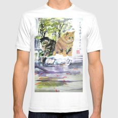 lake of desires White SMALL Mens Fitted Tee