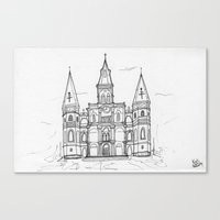 St. Louis Cathedral | New Orleans | Illustration  Canvas Print