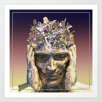 Music Head Art Print