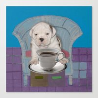 can't this wait until after my first cup Canvas Print