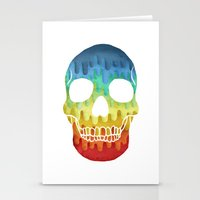 Paper Skull Stationery Cards