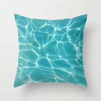 Throw Pillow featuring Pool by Whitney Retter