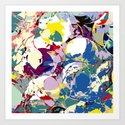 circle color fractures Art Print