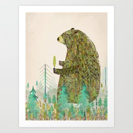 Art Print - the forest keeper - bri.buckley