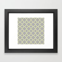 MOROCCAN {YELLOW/GRAY}  Framed Art Print