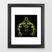Green Power Framed Art Print