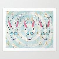 Bunsies Art Print