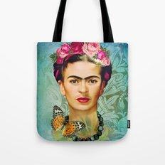 FRIDA Y MARIPOSA Tote Bag