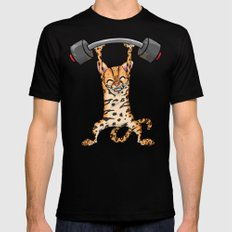 Ocelot Power Lifter Mens Fitted Tee SMALL Black