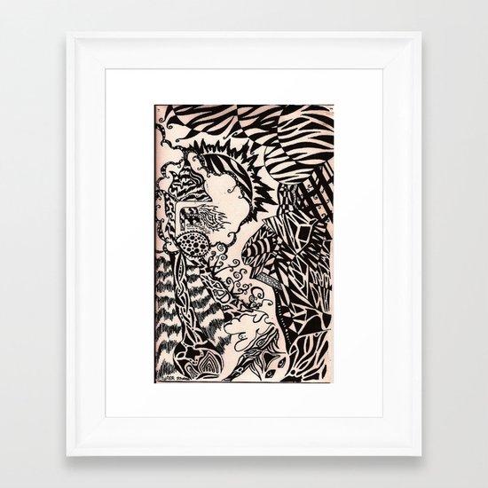 transference Framed Art Print