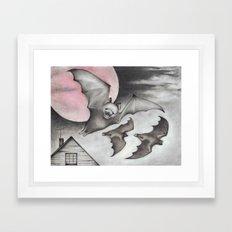 Strawberry Moon Framed Art Print