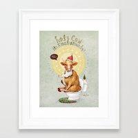 Holy Cow-Christmas Edition Framed Art Print
