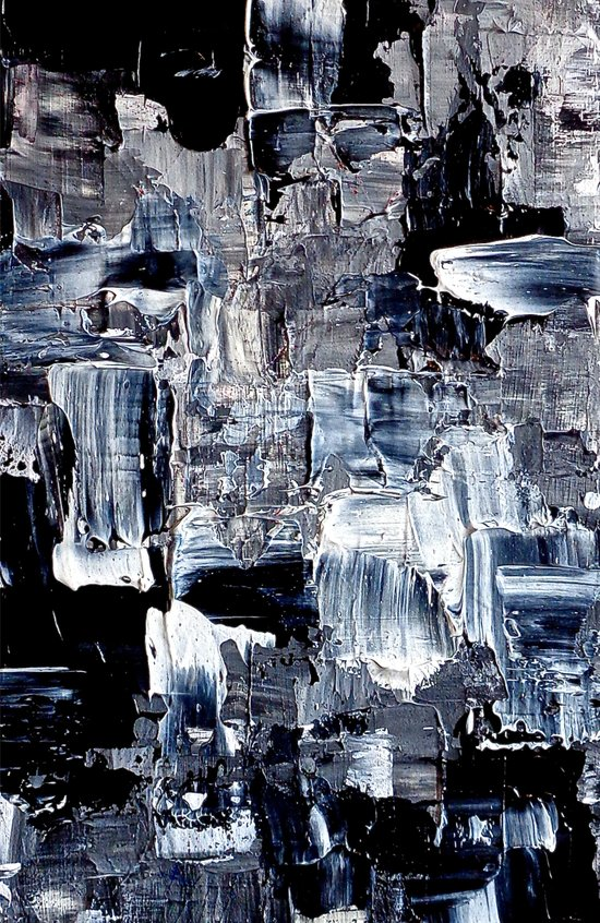 50 Shades... - black & white abstract painting Art Print