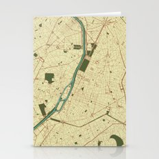 Paris Streets map Stationery Cards