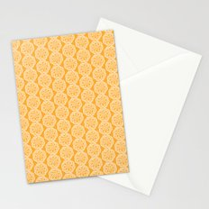 Floral mix - lace yellow Stationery Cards