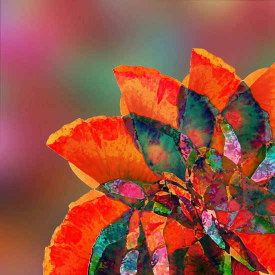 I think it is a flower... an abstract flower Art Print