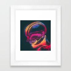 HEADSWIM  Framed Art Print
