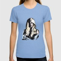 Blonde Womens Fitted Tee Tri-Blue SMALL