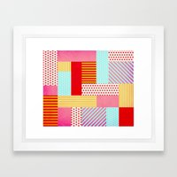 Geometric Pop Framed Art Print