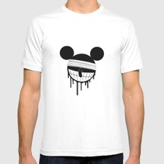 Mickey White SMALL Mens Fitted Tee