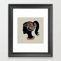 Thought Patterns Framed Art Print