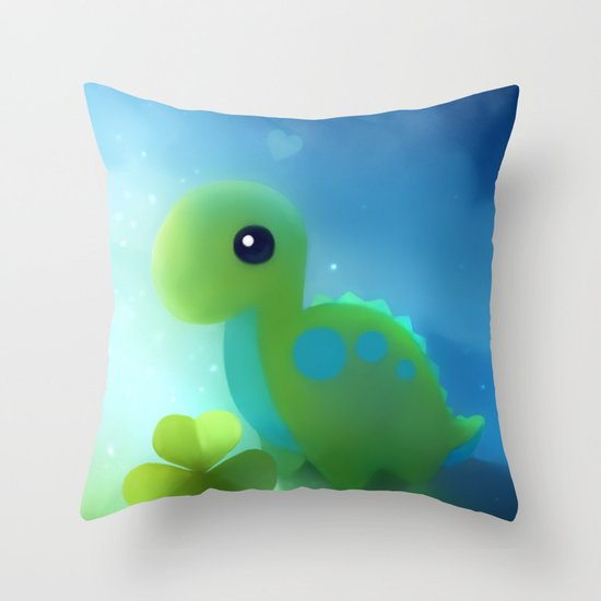 bronto dino Throw Pillow