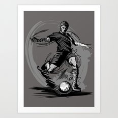 Playing Football Art Print