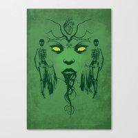The Green Fairy Canvas Print