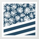 Fan Palm - Midnight Art Print