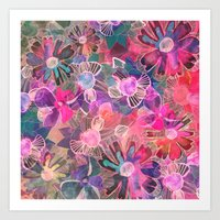 Marbled Garden  Art Print