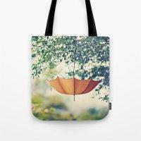 Orange Umbrella  Tote Bag
