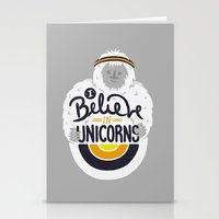 I Believe In Unicorns Stationery Cards