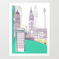 Lovely London Art Print